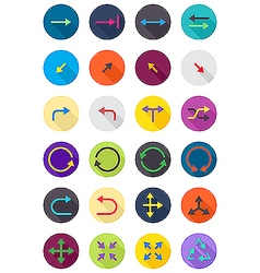 Color round arrows icons set vector