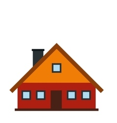 Red cottage icon vector