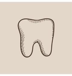 Tooth sketch icon vector