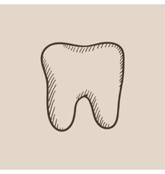 Tooth sketch icon vector image