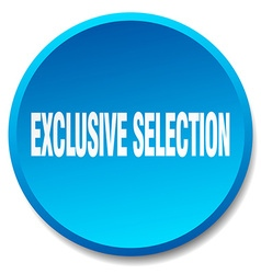 Exclusive selection blue round flat isolated push vector