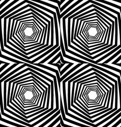 Abstract hexagonal optical vector image vector image