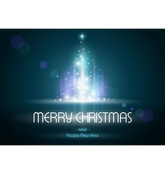 Abstract Lightning Xmas Tree vector image vector image