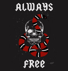Always free type in rock metal style fashion vector
