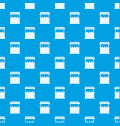 Carnival fair booth pattern seamless blue vector