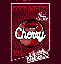 color vintage fruit banner vector image vector image