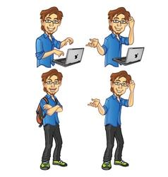 Computer programmer vector