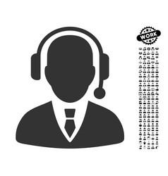 Dispatcher icon with professional bonus vector