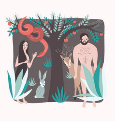 first people lost paradise vector image
