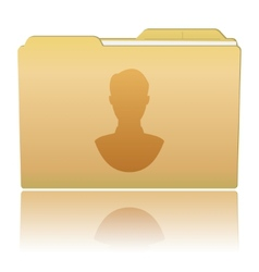 Folder with male silhouette vector image vector image
