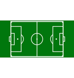 Football pitch layout vector
