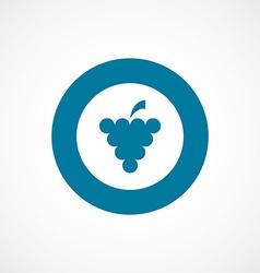Grapes bold blue border circle icon vector