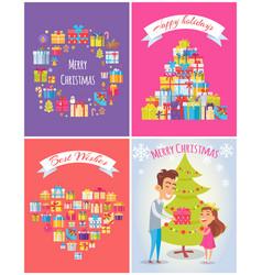 happy birthday merry christmas vector image