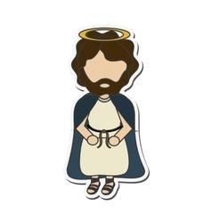 joseph holy family design vector image