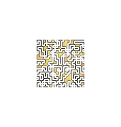 Labyrinth computer symbol vector image