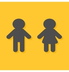 Man and Woman icon Male Female gender symbol vector image