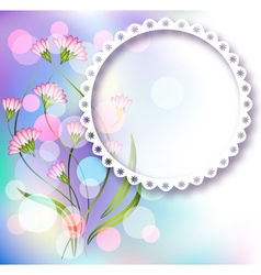 Photo frame and floral ornament vector image vector image