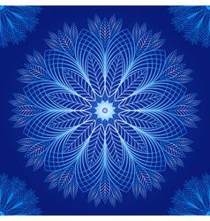 Seamless dark blue vintage christmas pattern vector