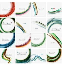Set of abstract backgrounds Circles swirls and vector image vector image