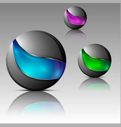 Set of futuristic orbs vector