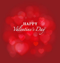 Shiny red bokeh Valentines background vector image