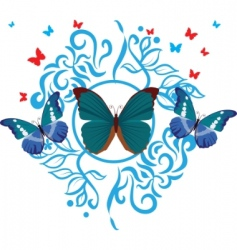 silhouette butterfly collection vector image vector image