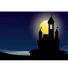 Silhouette castle vector image vector image