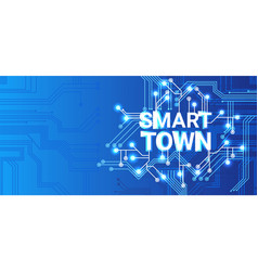 Smart town technology control system icon vector