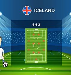 Soccer team arrangement Football infographic vector image