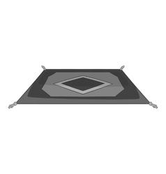 Turkish carpet icon gray monochrome style vector