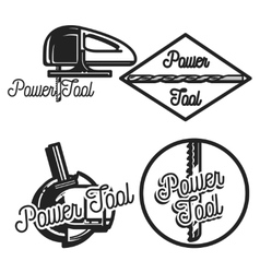 Vintage power tools store emblems vector