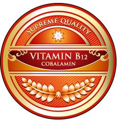 Vitamin b12 icon vector