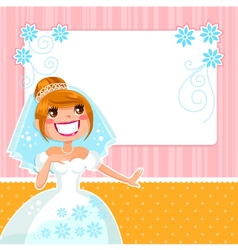Happy bride vector