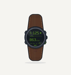Sport watch icon vector