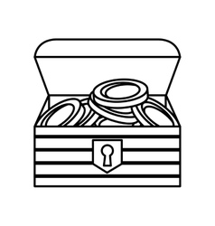 Game treasure chest icon vector