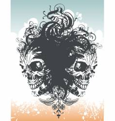 Wicked skull flourish illustration vector
