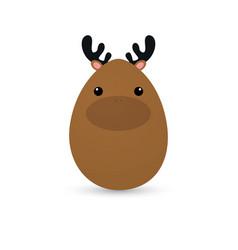 Easter dear egg vector