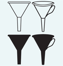 Funnel made vector image