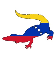Crocodile venezuela vector