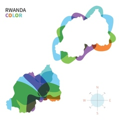 Abstract color map of rwanda vector