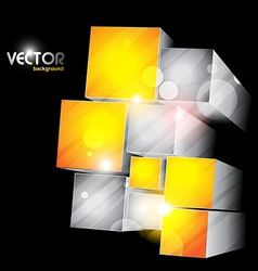 Cube shapes vector