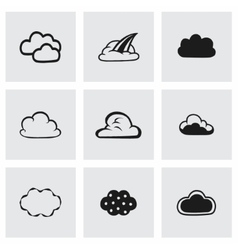 Clouds icon set vector
