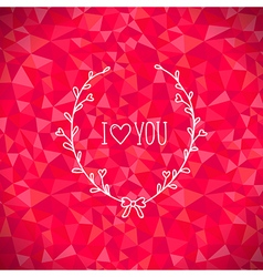 Valentine crystal love vector image