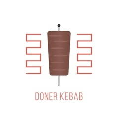 Doner kebab logo isolated on white background vector