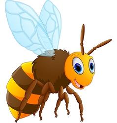 Cute bee posing vector image