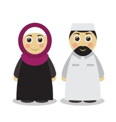 Muslim couple man and woman vector