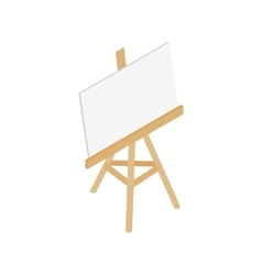 Easel icon isometric 3d style vector