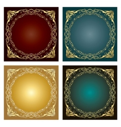 Set of vintage radial ornaments vector