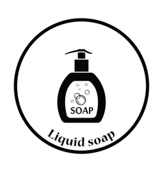 Liquid soap icon vector