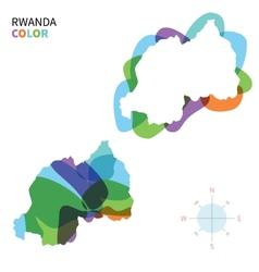 Abstract color map of rwanda vector